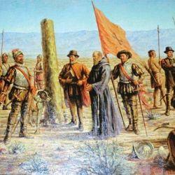 """El 2 de marzo de 1506, en medio de dos fuertes tormentas de arena, Del Castillo fundó la nueva ciudad, a la que bautizó """"Ciudad de Mendoza del Nuevo Valle de La Rioja""""."""
