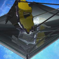 Su escudo solar equivale al tamaño de una cancha de tenis.