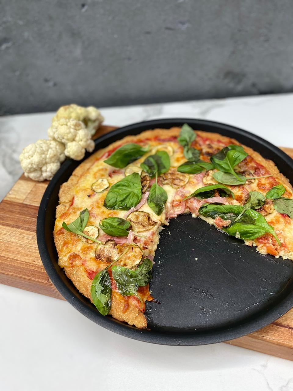Pizza de coliflor y otras delicias.