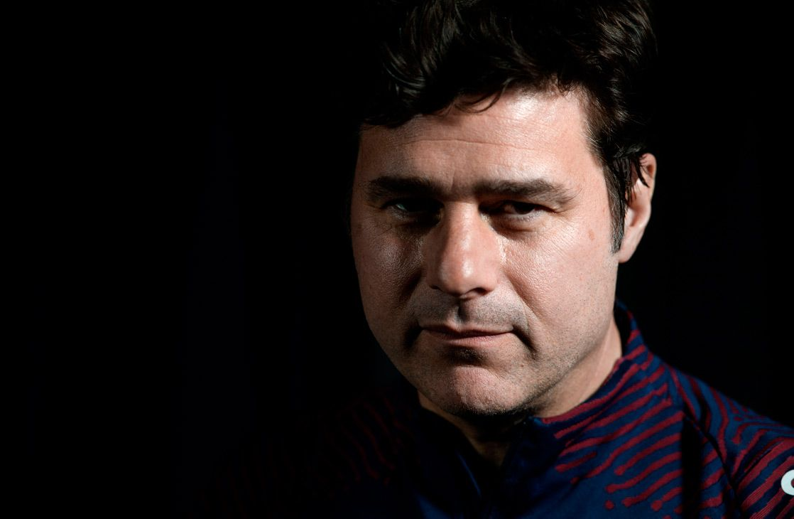 Paris Saint-Germain's Argentine head coach Mauricio Pochettino poses at the team's training grounds in Saint-Germain-en-Laye, outside Paris, on March 1, 2021.