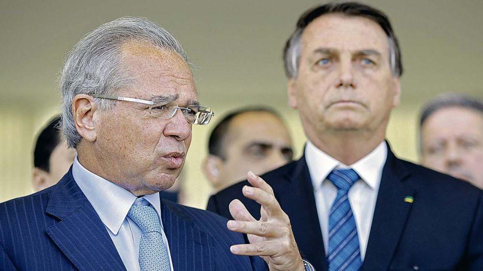 Paulo Guedes con Jair Bolsonaro-20210302