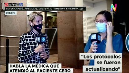Habló la médica que recibió al primer paciente de coronavirus en el país
