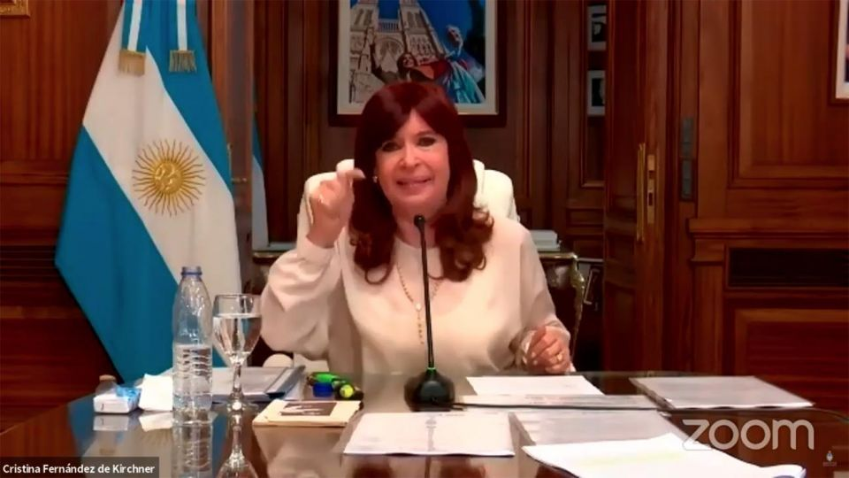 Vice-President Cristina Fernández de Kirchner gives evidence in the 'dollar futures' case.