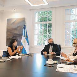 Gómez Alcorta, Vilma Ibarra, Fernández, Losardo y Frederic en la creación del nuevo organismo. | Foto:cedoc