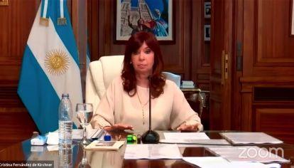 Cristina Fernández en la Audiencia vía Zoom por Dólar futuro