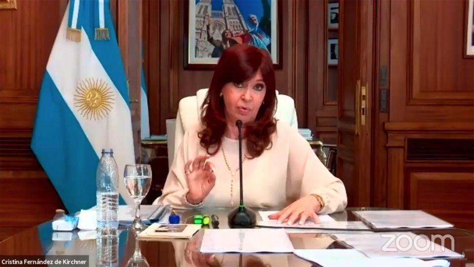 Cristina Fernández en la Audiencia vía Zoom por Dólar futuro 20210304