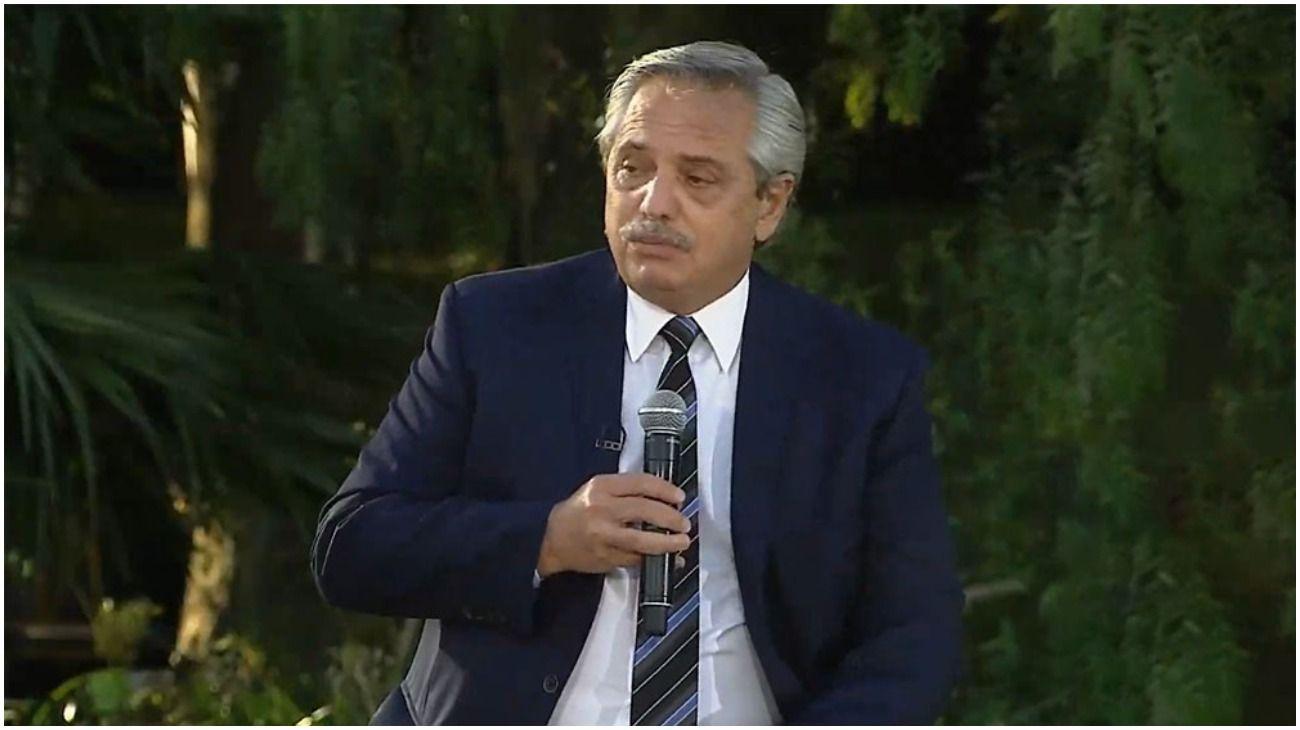 Alberto Fernández en el Consejo Económico y Social.