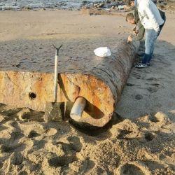 Los timones fueron encontrados por Carlos Palotta, vecino de Necochea, en la zona de Arenas Verdes.