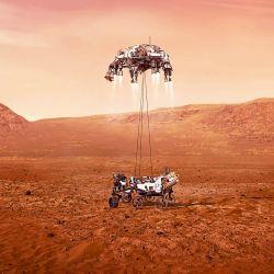 Amartizaje de Perseverance. | Foto:Gentileza NASA/JPL