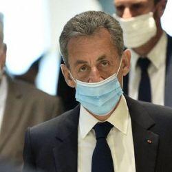 Nicolas Sarkozy saliendo del juzgado.  | Foto:CEDOC