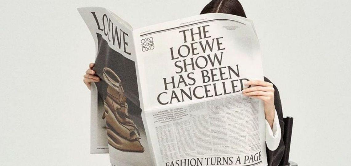En la Semana de la Moda de París, Loewe lanzó un diario de papel con su nueva colección