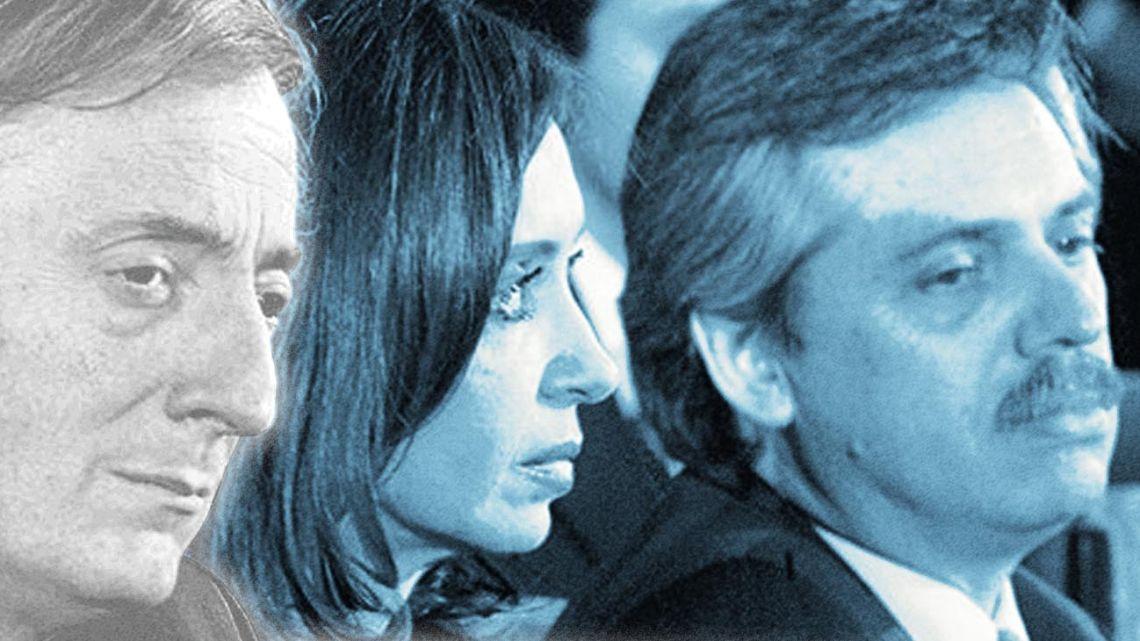 Nestor Kirchner, Cristina Kirchner and Alberto Fernandez.