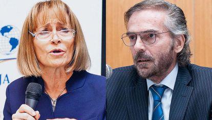 Enfrentados. Ángela Ledesma le envió una carta a Gustavo Hornos para pedir que se aparte.
