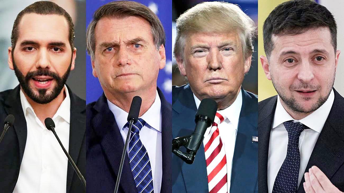 Emergentes. Bukele en El Salvador; Bolsonaro en Brasil; Trump en los Estados Unidos y Zelensky en Ucrania: el riesgo de que la política no se aggiorne a los nuevos tiempos.