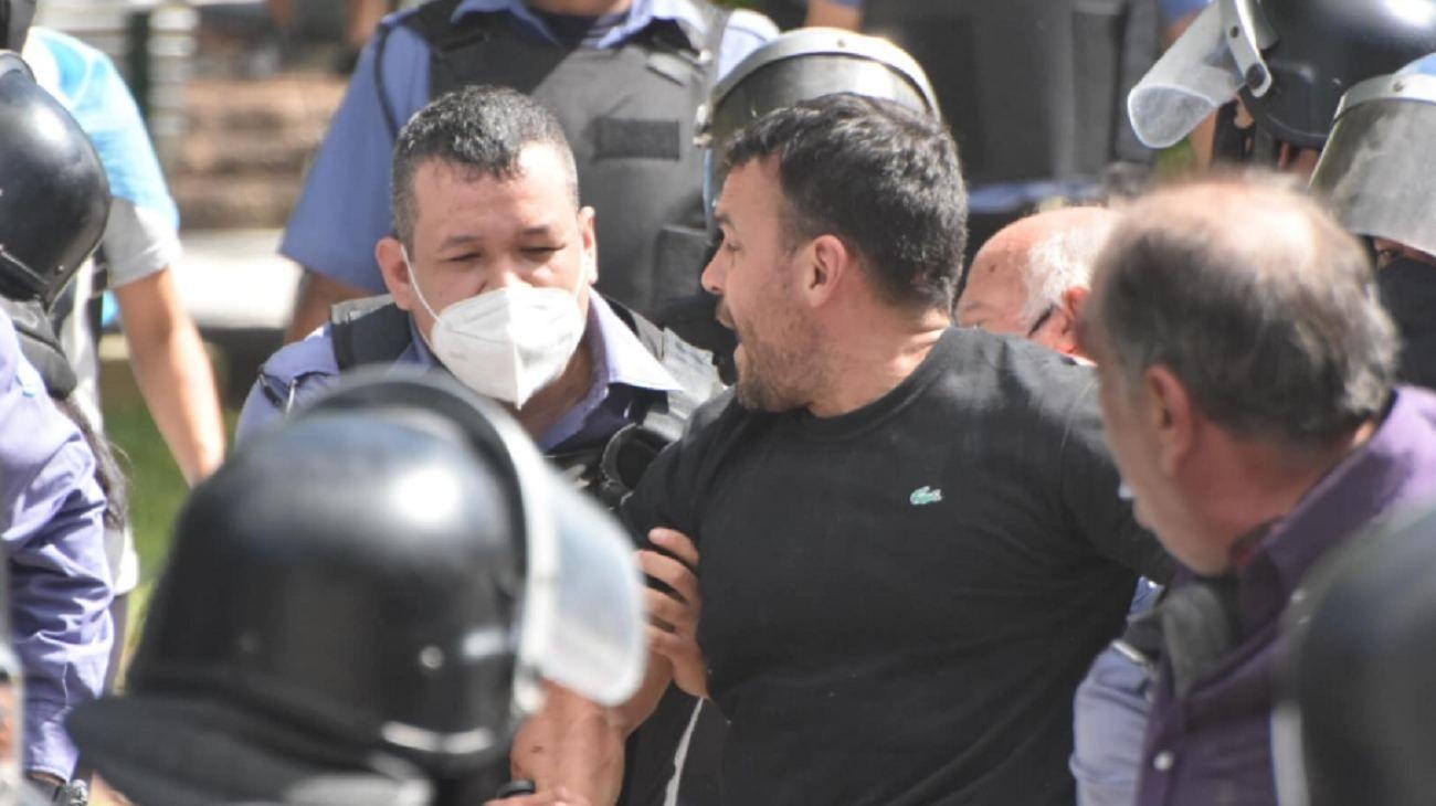 Maxi Galarza, al momento de su detención en Formosa.