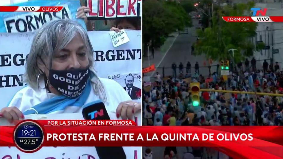 Protesta por Formosa en la Quinta de Olivos