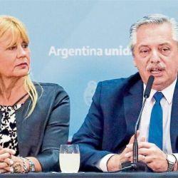 Alberto Fernández y Marcela Losardo