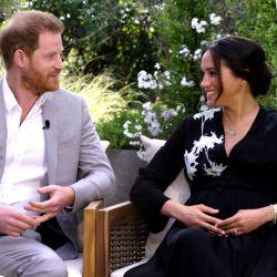 Meghan y Harry con Oprah.