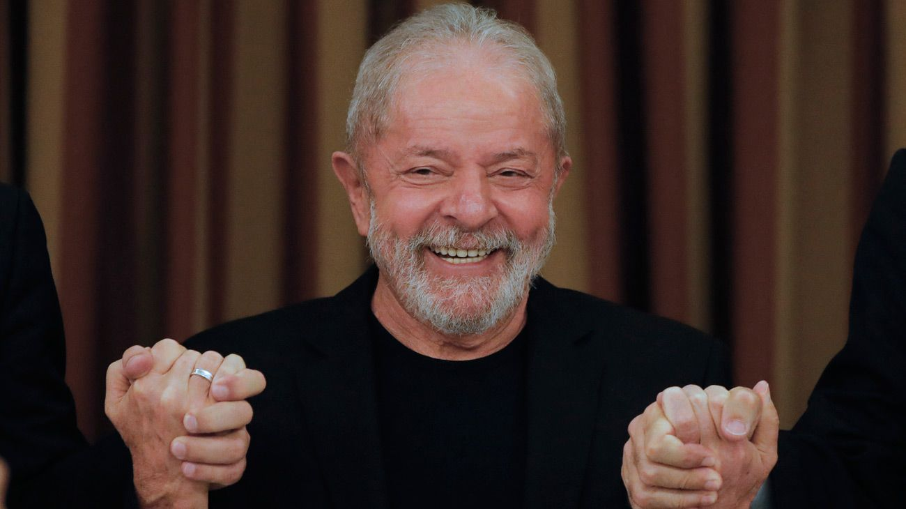 this file photo taken on February 18, 2020, Brazil's former president Luiz Inácio Lula da Silva is pictured during a meeting with deputies and senators of the Workers' Party (PT) in Brasilia.