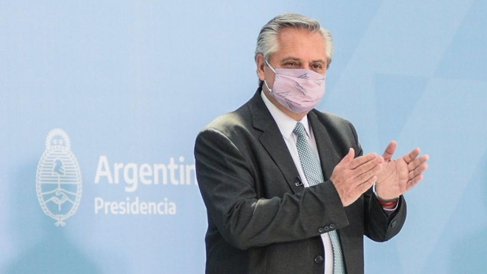 Alberto Fernández en el acto por el Día Internacional de la Mujer.