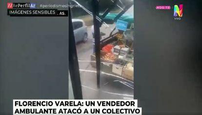Florencio Varela: Pelea entre un colectivero y un vendedor ambulante