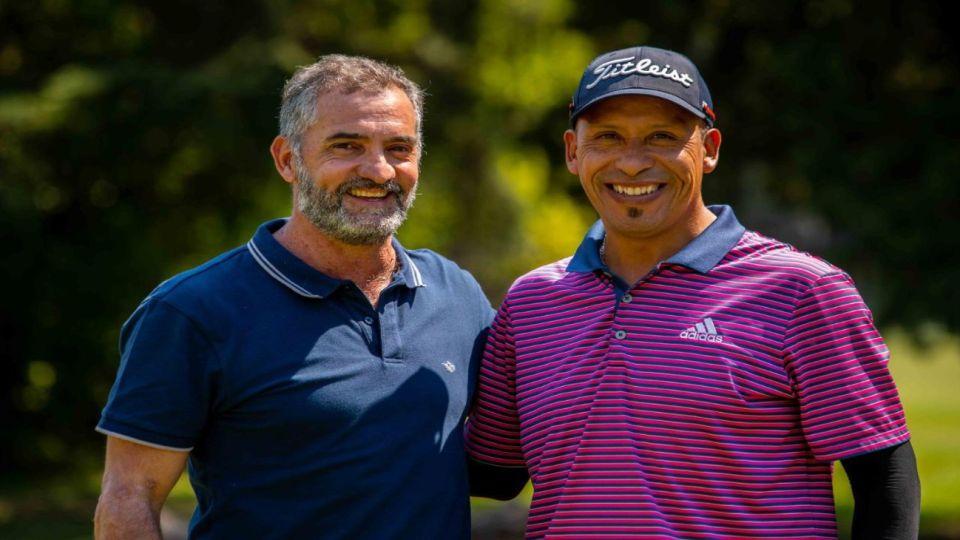 Golfistas foto editada