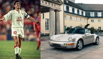 El Porsche que perteneció a Maradona y que fue subastado en París.