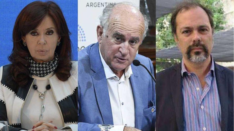 CFK Oscar Parrilli y el abogado Roberto Boico 20210310