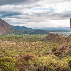 """Uno de los paisaje típicos de la increíble """"capital"""" de los Valles Calchaquíes."""