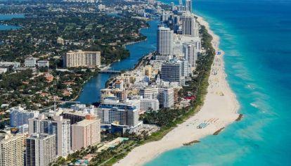 La ciudad de Miami es el destino favorito de los Argentinos y no exigen cuarentena al llegar.