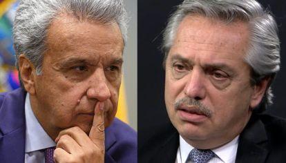El presidente de Ecuador, Lenín Moreno, junto su homónimo en Argentina, Alberto Fernández.