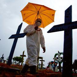 El drama del coronavirus en Brasil. | Foto:AFP