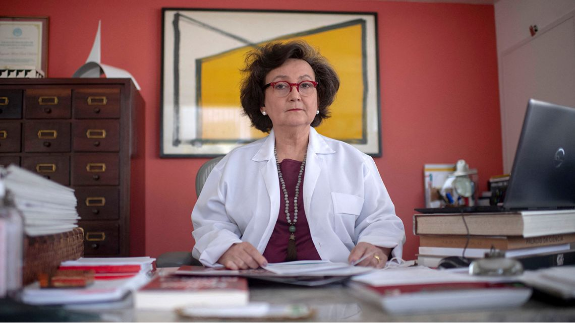 Pneumologist's physician Margareth Dalcolmo poses for a photograph at her medical office in Rio de Janeiro, Brazil on March 9, 2021.