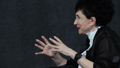 Esther Díaz, en la entrevista con Jorge Fontevecchia.