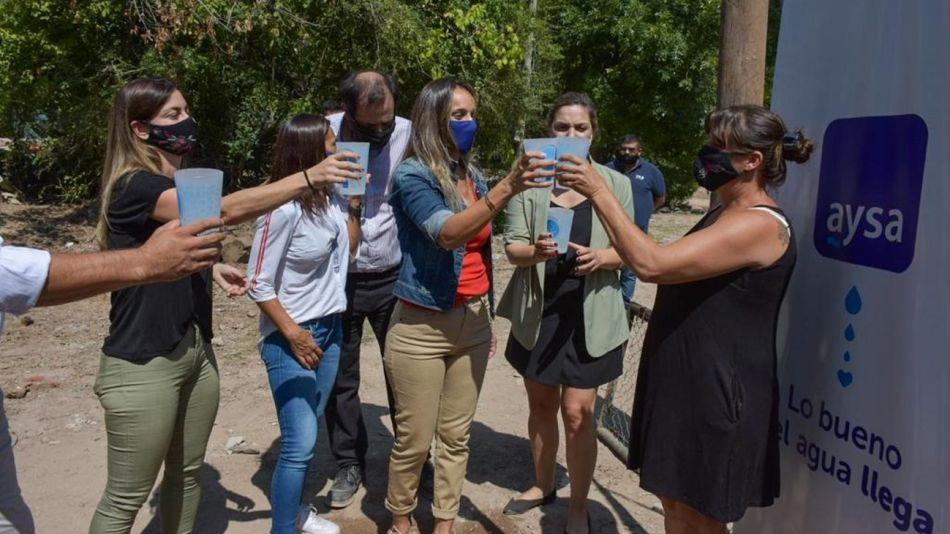 Malena Galmarini, en la inauguración de obras en Barrio Parque Guazu-Nambi (Ex Soeva), en Tigre.