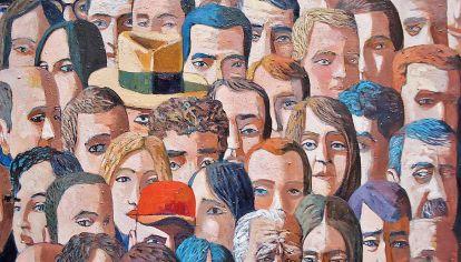 La voz del pueblo, (óleo sobre tela) 2016.