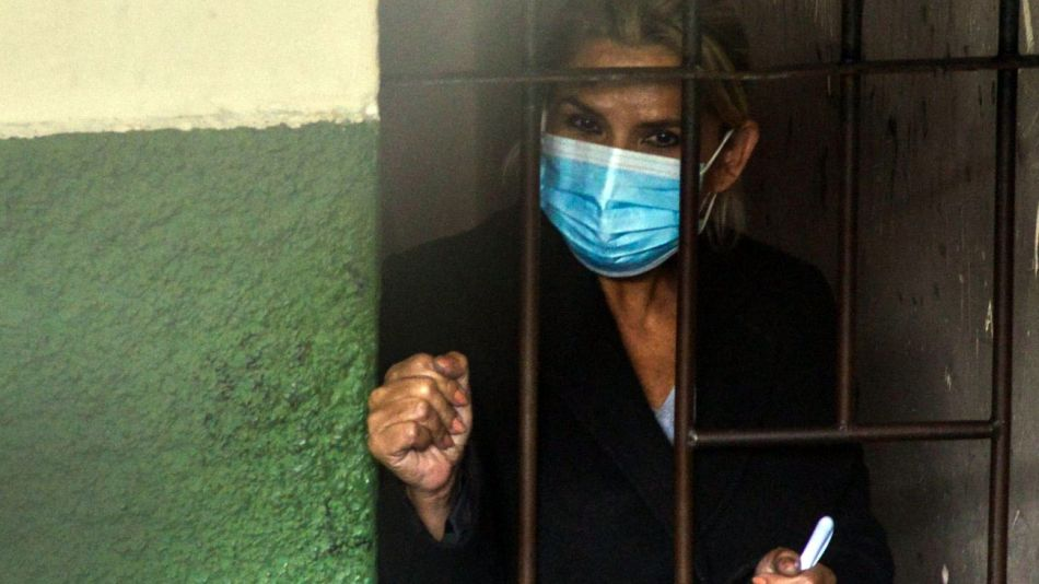 La expresidenta boliviana Jeanine Añez, en su primera noche en prisión.