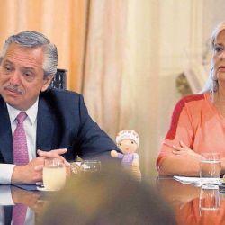 Alberto Fernández junto a Marcela Losardo.