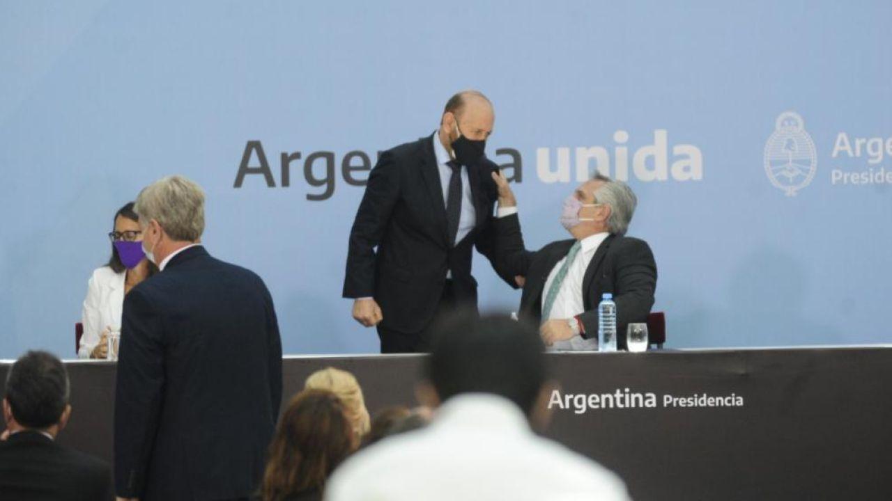 Gildo Insfrán con Alberto Fernández | Foto:Cedoc