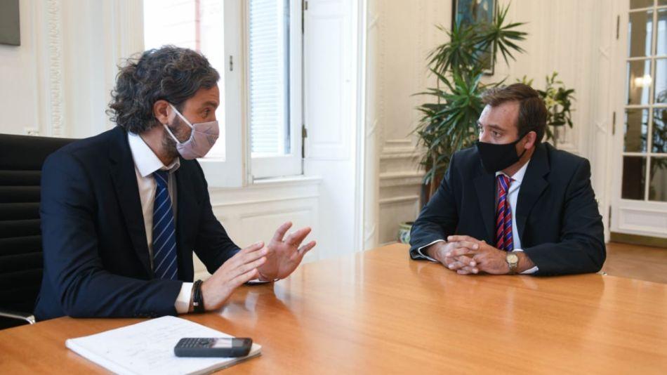 Santiago Cafiero y Martín Soria se reunieron para coordinar temas de gestión