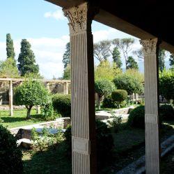 En el jardín de Julia Felix se adivina el lujo en el que vivían los romanos ricos. Foto: Florian Sanktjohanser/dpa