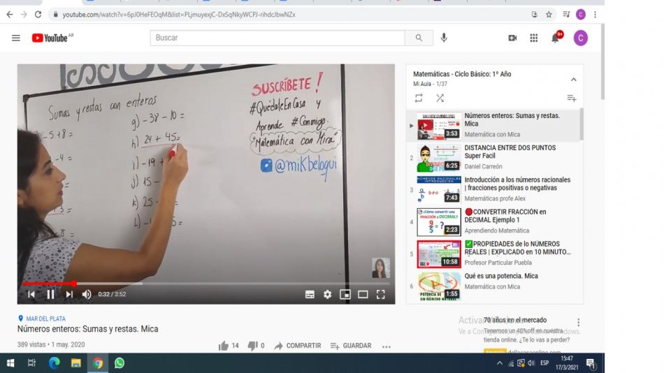 Mi Aula Youtube y Unesco