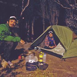Noche de campamento en la más absoluta soledad.