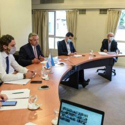 Alberto Fernández con los gobernadores