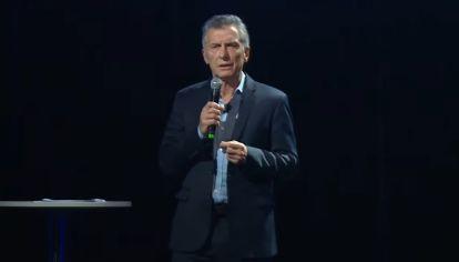 """Mauricio Macri, en la presentación de su libro """"Primer Tiempo""""."""