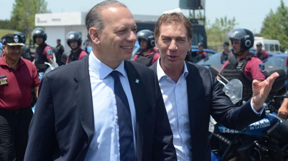 Sergio Berni y Diego Santilli 20210318