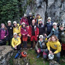 Christian Clot se encerró en una cueva, junto con otros 14 científicos en Lombrives, en Ariège, cerca de la frontera con España.