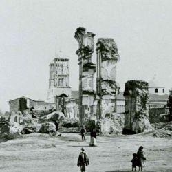 Ruinas de la iglesia de San Francisco, destruida por el terremoto de 1861