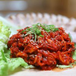 Variedades de kimchi, el preparado coreano que fue declarado patrimonio cultural e inmaterial por la Unesco.