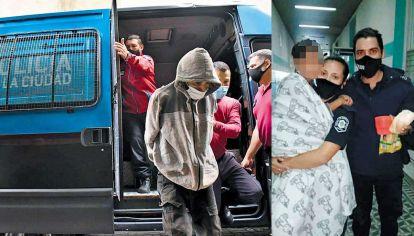 Traslados. El cartonero Carlos Savanz está preso en una sede de la Policía Federal, a la espera de ser indagado. La menor fue asistida en Luján y derivada al Hospital Garrahan, en buen estado de salud.